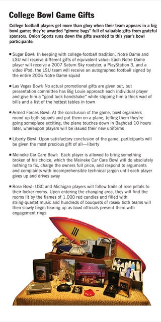 Illustration for article titled College Bowl Game Gifts