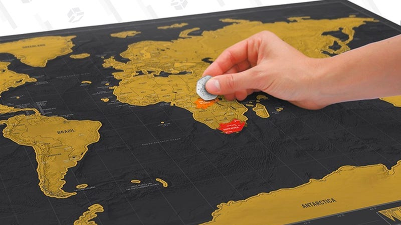 Scratch off Map World Poster | $18 | Amazon | After 20% off Coupon