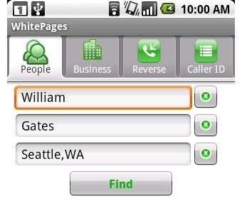 WhitePages Adds Phone Number Search to Android App