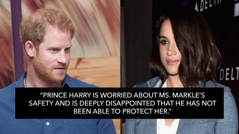 Illustration for article titled Kensington Palace Confirms Prince Harry's Relationship With Meghan Markle After 'Wave of Harassment'