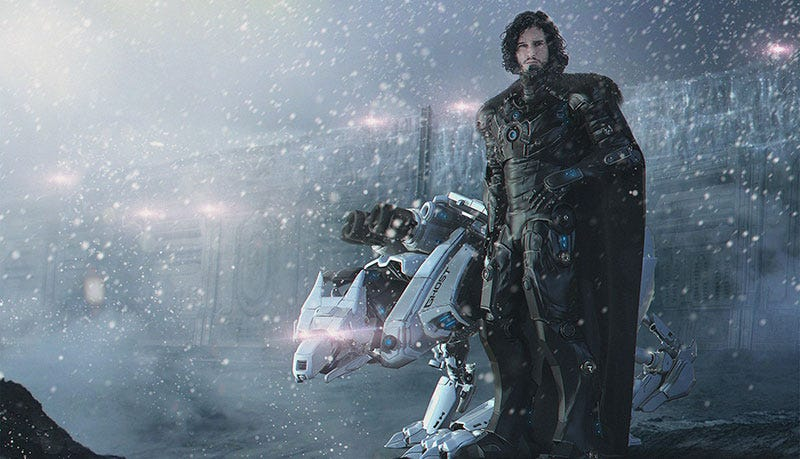Illustration for article titled Jon Snow, Lord Commander Of The Night's Watch Mechanized Scout Division