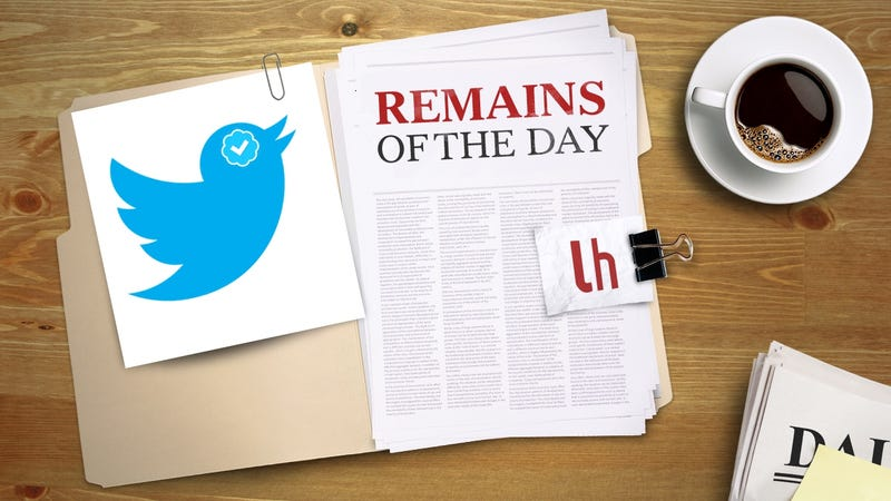 Illustration for article titled Remains of the Day: Twitter Now Lets Anyone Request a Verified Account