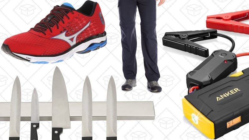 Illustration for article titled Today's Best Deals: Running Shoes, Outdoor Clothes, Anker Jump Starter, and More