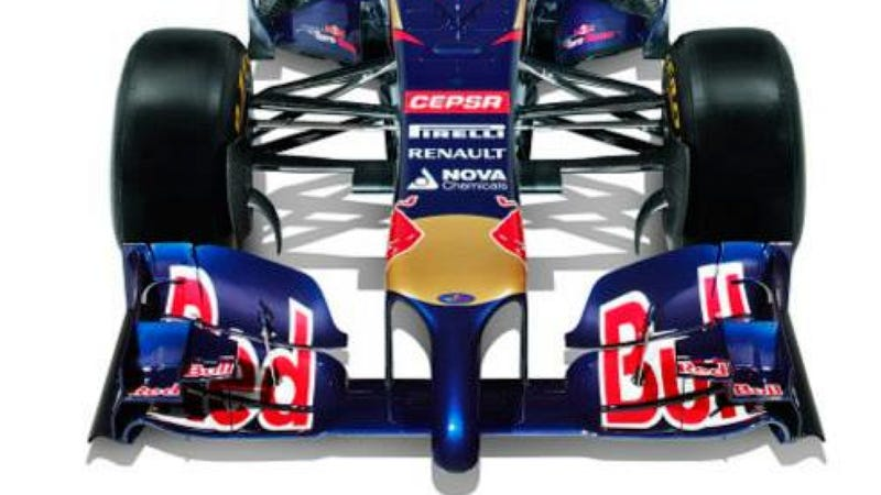Illustration for article titled Scuderia Toro Rosso's New F1 Car Is Hung Like A Horse
