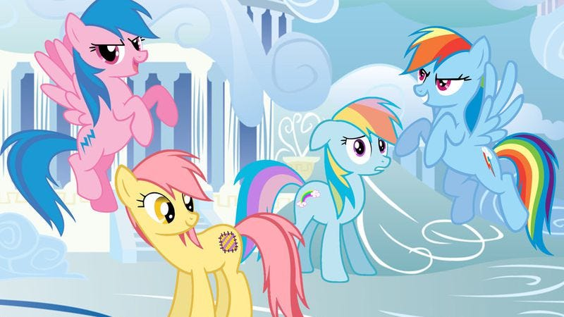 Illustration for article titled My Little Pony movie coming to theaters filled with kids, perfectly nice gentlemen