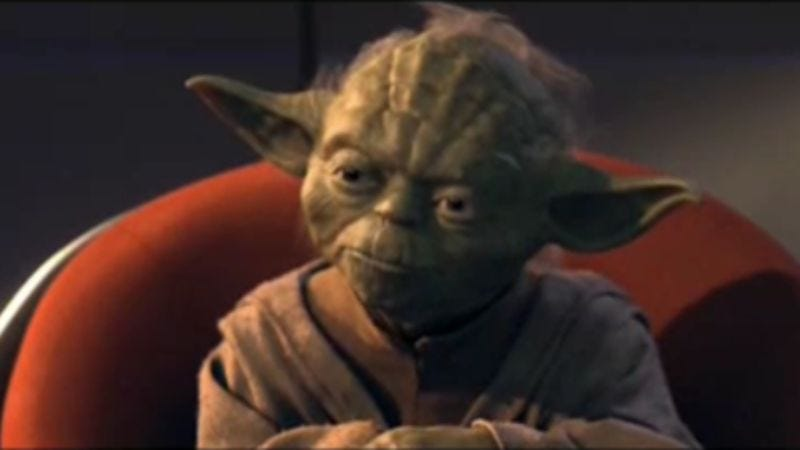Illustration for article titled George Lucas continues war on puppets by adding new, digital Yoda to The Phantom Menace