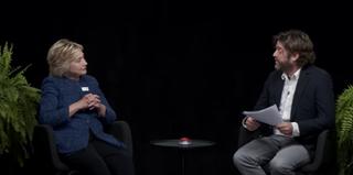 Hillary Clinton on Between Two FernsYouTube Screenshot