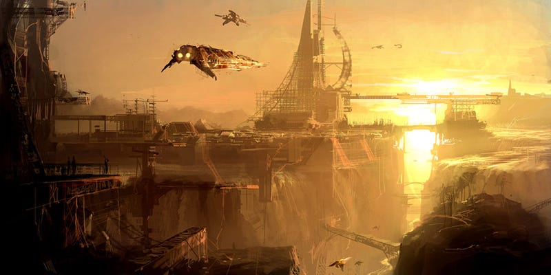 Waterfall City by Theo, via Concept Ships