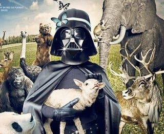 Illustration for article titled This Sith Lord Uses The Dark Side To Save The Planet, And Baby Animals
