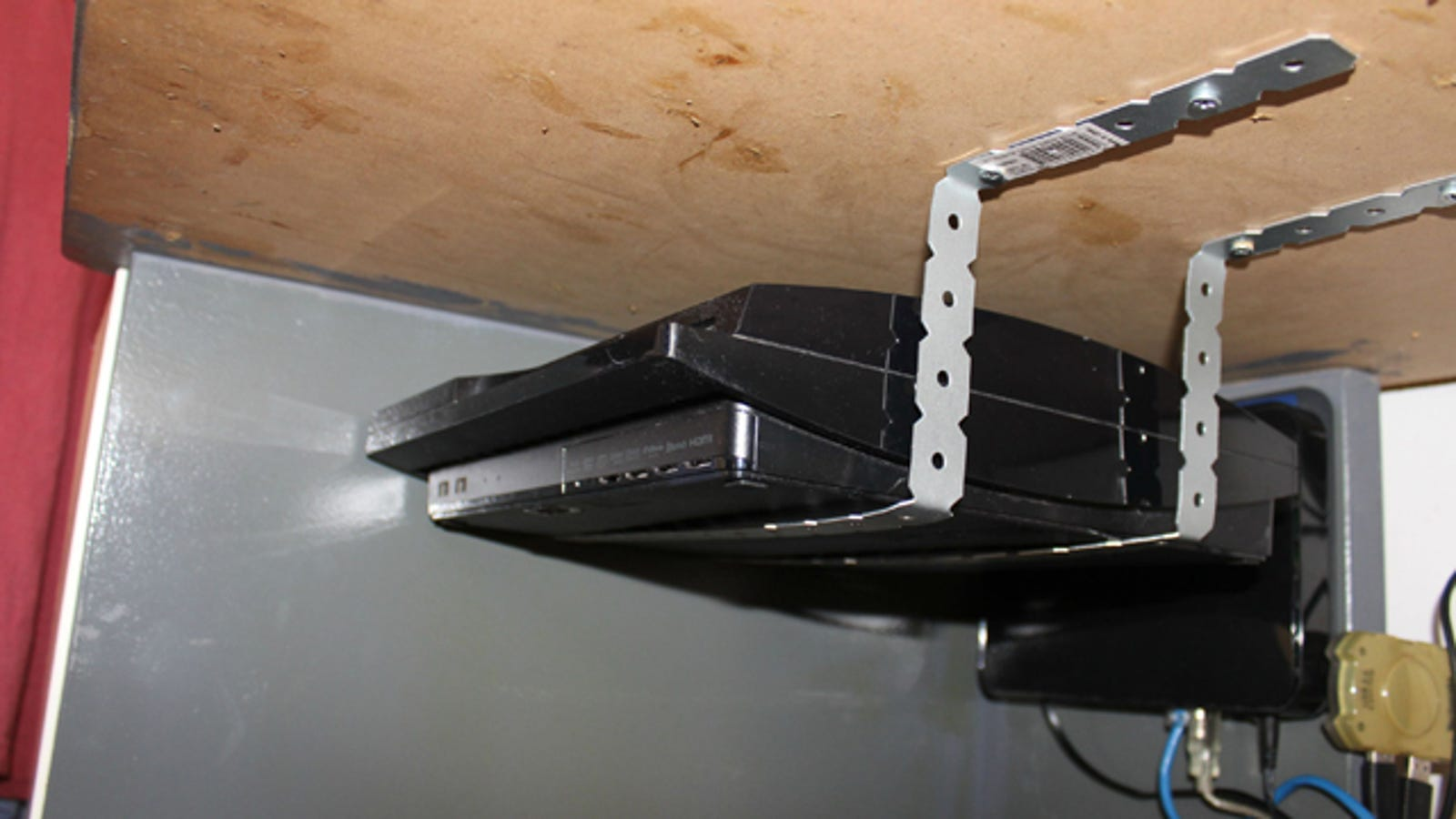 Mount Anything Under Your Desk With 4 Brackets