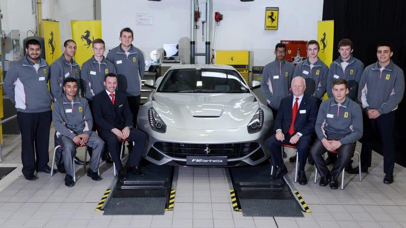 Illustration for article titled Ferrari Apprentices Start Living The Dream