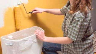 Illustration for article titled Use Plastic Wrap to Protect Furniture or Fixtures When Painting Narrow, Hard-To-Reach Places
