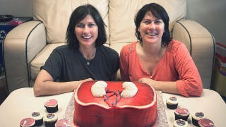 the breeders celebrate birthday with fetus cake