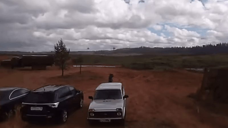Russian Military Accidentally Fires at Civilians During War Games