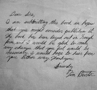 tim burton writing