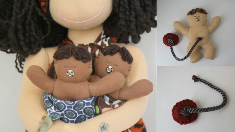 Illustration for article titled Handcrafted Breastfeeding and Birthing Dolls Are Adorably, Oddly NSFW
