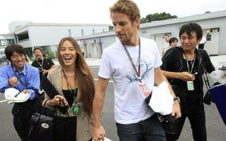 Illustration for article titled Jenson Button finally popped the question.