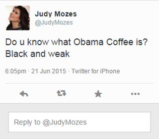 A screenshot of Judy Nir Mozes Shalom's tweetTwitter