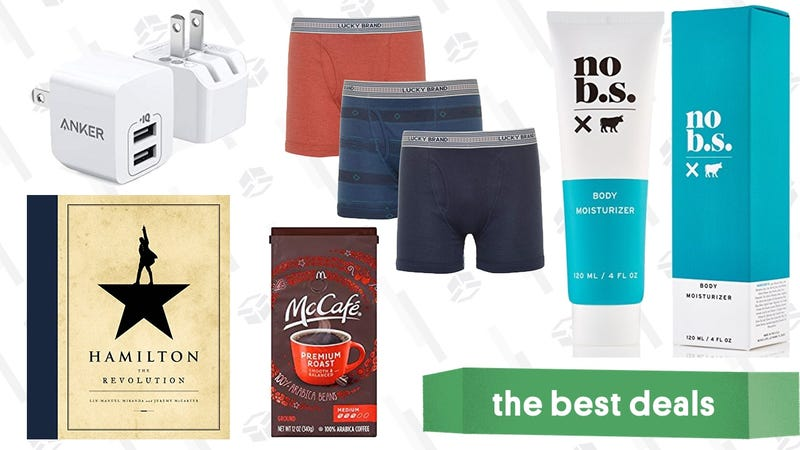 Illustration for article titled Saturday's Best Deals: Qi Charging, Skincare, Boxer Briefs, and More