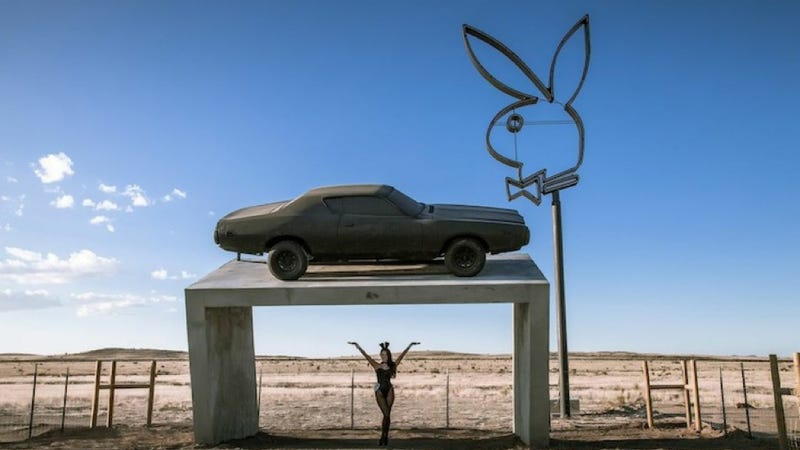 Illustration for article titled 'Playboy Marfa' May Be The Next Great Car Geek Roadside Attraction