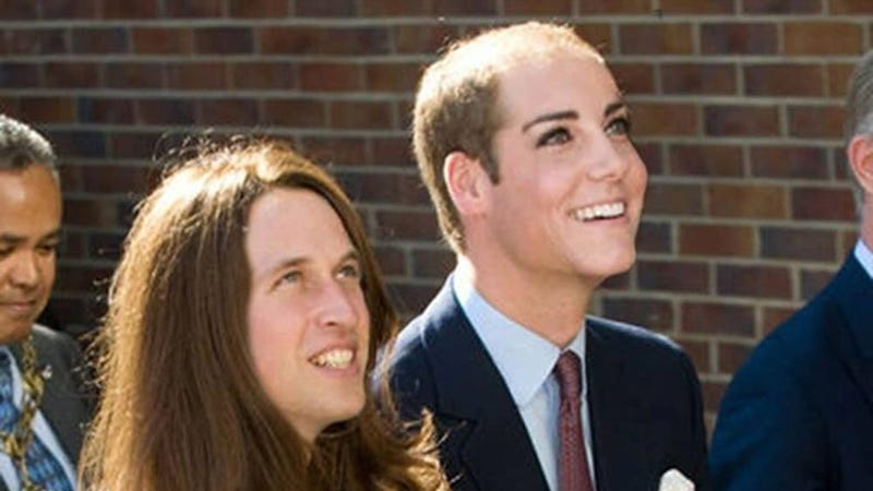 Illustration for article titled Yikes: Kate and Will Face Swap Is Mesmerizingly Horrific