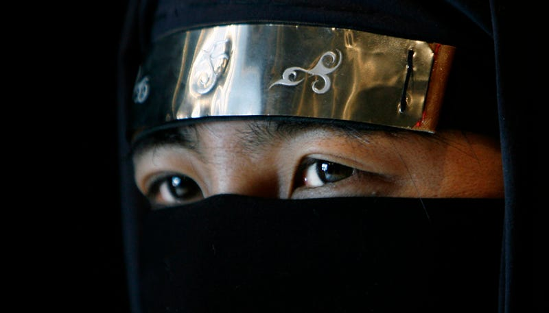 Un maestro ninja de la escuela Bujinkan, en Tokio.
