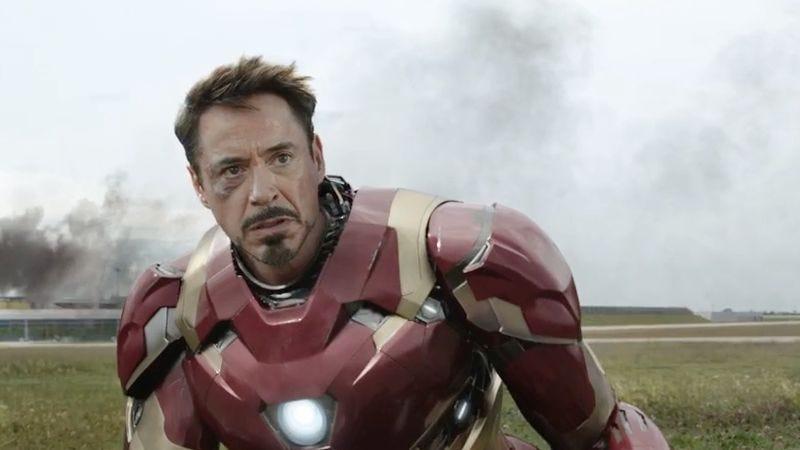 Robert Downey Jr. as Iron Man in Captain America: Civil War
