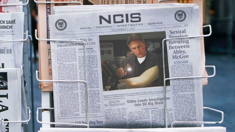 Illustration for article titled 'NCIS' To Cease Print Edition