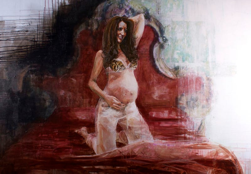 Illustration for article titled 'Portrait Artist of the Year' Paints Pregnant Duchess Kate in a Bra