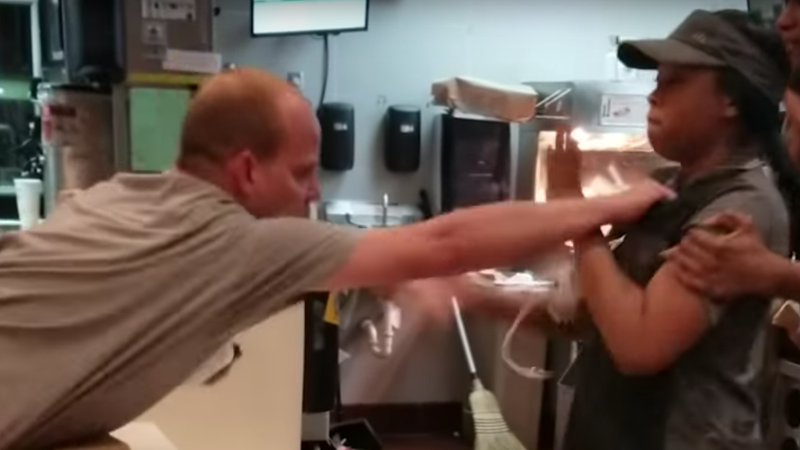Man who grabbed McDonald's employee in fight over straw
