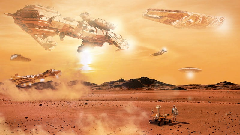 Illustration for article titled Spacecraft Travel From All Over Galaxy To Honor End Of Opportunity Rover's Life