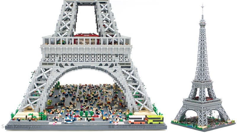 Illustration for article titled It's the Tiny Tourists That Make This Lego Eiffel Tower So Perfect