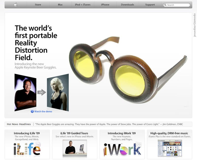 Illustration for article titled Apple Keynote Beer Goggles to Become Obligatory in 2009