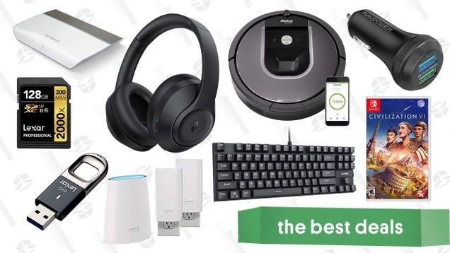 Monday s Best Deals: Civilization VI, TaoTronics ANC Headphones, Dual Port Car Charger, and More