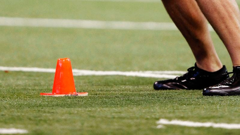 Illustration for article titled Orange Cone Impresses Scouts At NFL Combine