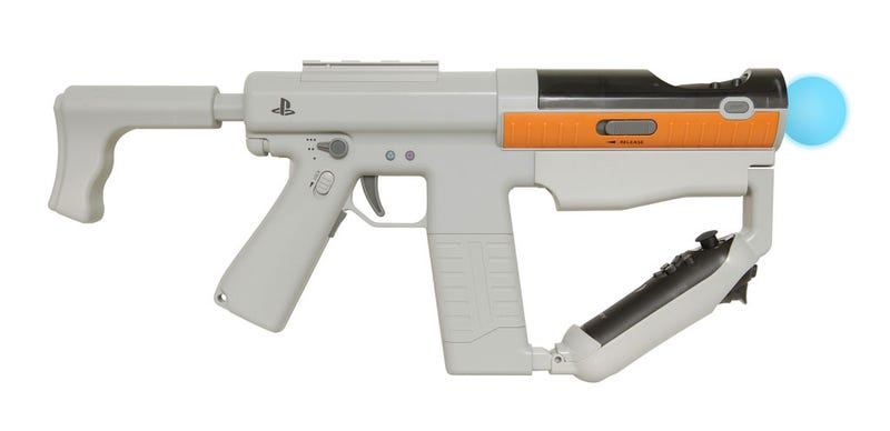 Illustration for article titled This Is The Official PlayStation Move Submachine Gun