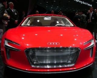 Illustration for article titled Audi e-tron Concept: An R8 With 3,319.03 Lb-Ft Of Electric Torque