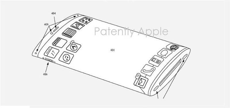 Illustration for article titled Así podría ser el iPhone del futuro: envuelto por completo en una pantalla flexible
