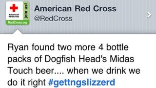 Illustration for article titled How This Drunk Tweet Got Sent From the American Red Cross's Account