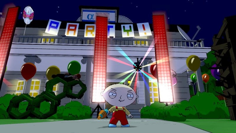 Illustration for article titled Stewie Terrorizes Frat Boys in These Family Guy Video Game Screen Shots