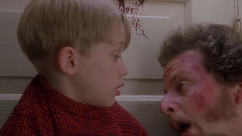 Illustration for article titled Someone added gore to Home Alone scenes, and they are much better