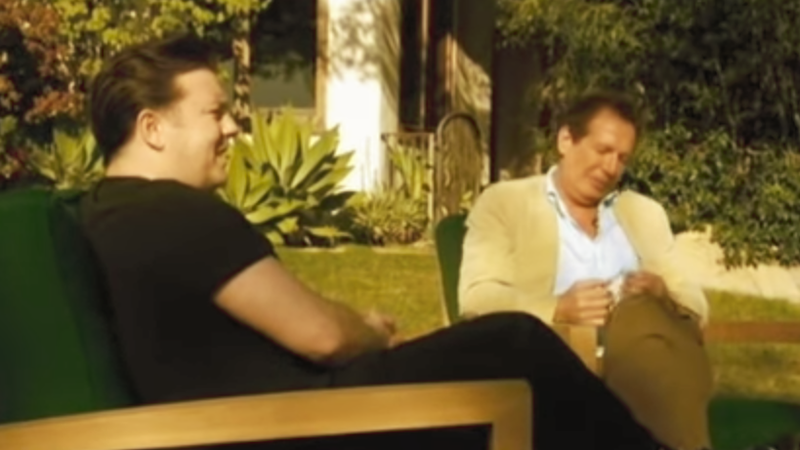 It's never felt more prophetic or satisfying to watch Garry Shandling's legendarily hostile sit-down with Ricky Gervais