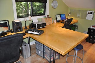 dual desks home office. today\u0027s featured workspace features a complete office remodel including custom desk dual desks home d