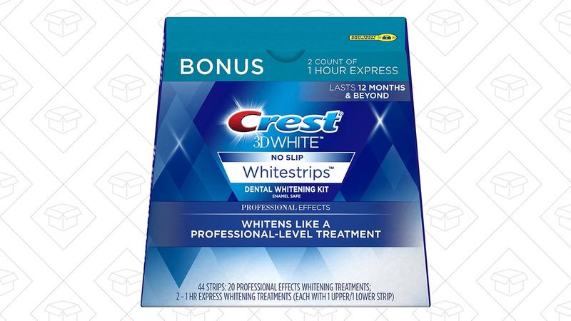 20 Tratamientos de tiras blanqueadoras Crest 3D + Dos tratamientos exprés de 1 hora | $29 | Amazon | Usa el código 10CRESTPE22 y el cupón de $5