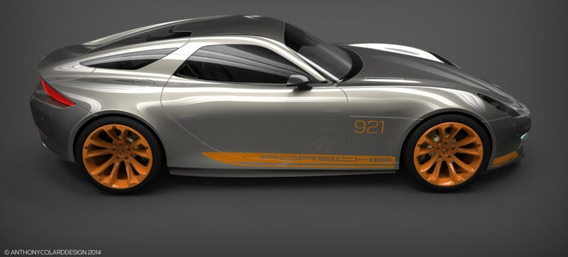 Illustration for article titled This Is What A Modern Porsche 928 Could Look Like
