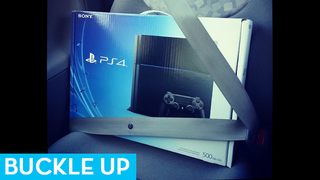 Illustration for article titled Look At All These PS4s Wearing Seat Belts