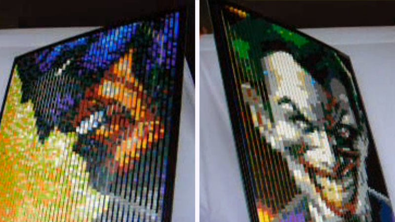 Illustration for article titled Awesome Lego Lenticular Mosaic Turns Batman Into the Joker