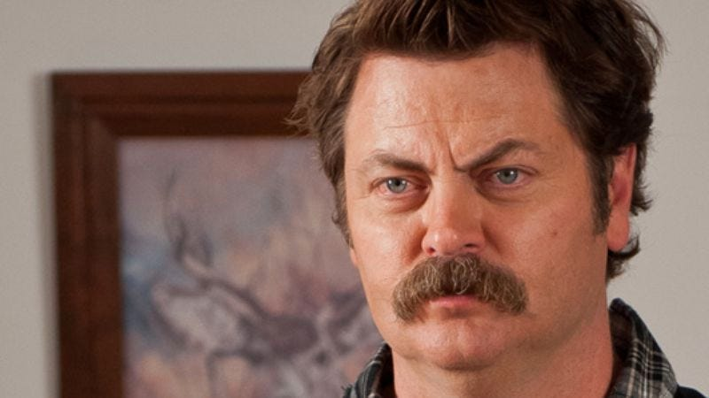 """Illustration for article titled Nick Offerman to show the world his """"nipples and nuggets"""" for charity"""