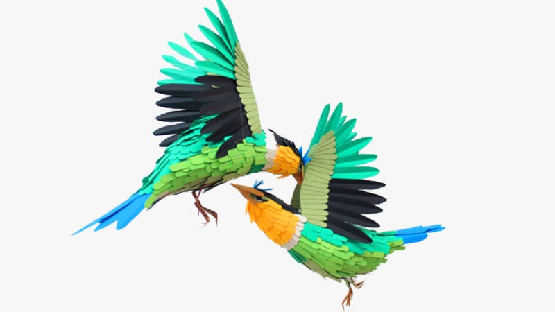 Illustration for article titled These lovely paper birds will make you feel at peace with the world