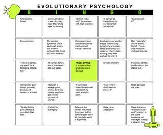 Illustration for article titled The Evolutionary Psychology Game: BINGO!